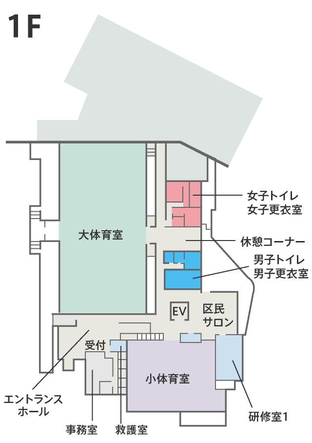 1階フロア案内図
